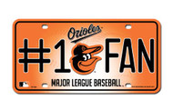 Baltimore Orioles License Plate - #1 Fan