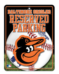 Baltimore Orioles Metal Parking Sign