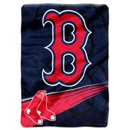 "Boston Red Sox 60""x80"" Royal Plush Raschel Throw Blanket - Speed Design"