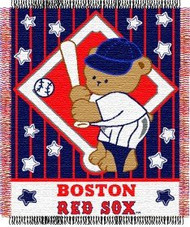 "Boston Red Sox 36""x48"" Woven Baby Throw Blanket"