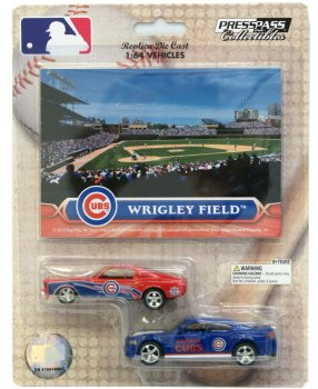 Chicago Cubs 1:64 Dodge Charger & Ford Mustang 2-Pack