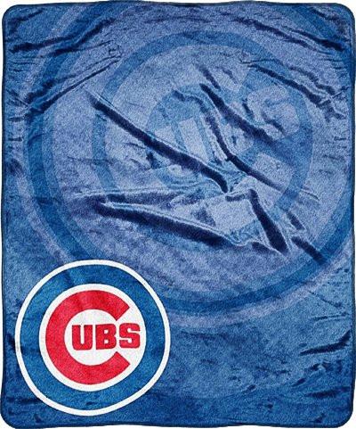 "Chicago Cubs 50""x60"" Retro Style Royal Plush Raschel Throw Blanket"