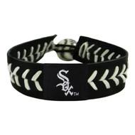 Chicago White Sox Baseball Bracelet - Team Color Style