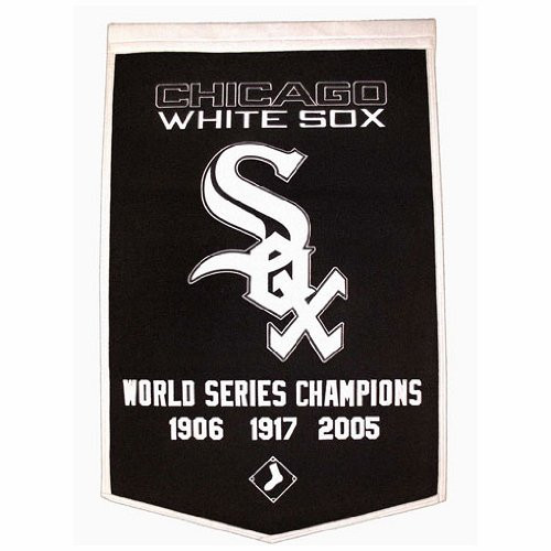 """Chicago White Sox 24""""x36"""" Wool Dynasty Banner"""