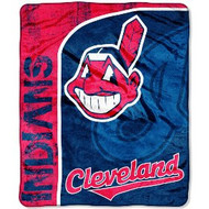 "Cleveland Indians 46"" x 60"" Micro Raschel Throw Blanket"