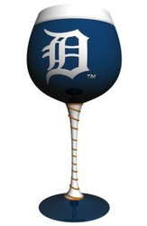Detroit Tigers Artisan Wine Glass