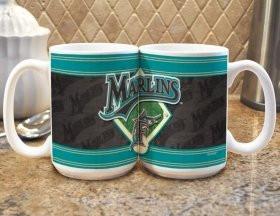 Florida Marlins Coffee Mug - Felt Style