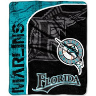 "Florida Marlins 46"" x 60"" Micro Raschel Throw Blanket"