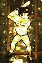 """Houston Astros 20"""" Double Sided Window Light-Up Player"""
