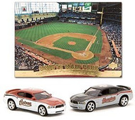 Houston Astros 2007 1:64 Home & Road Dodge Chargers w/Stadium Card