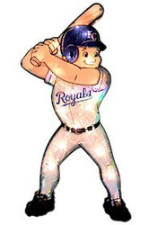 """Kansas City Royals 20"""" Double Sided Window Light-Up Player"""