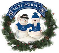 "Kansas City Royals 20"" Team Snowman Wreath"