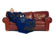 "Kansas City Royals 48"" x 71"" Comfy Throw Blanket With Sleeves - Smoke Design"