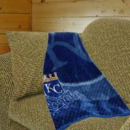 """Kansas City Royals 50""""x60"""" Retro Style Royal Plush Raschel Throw Blanket"""