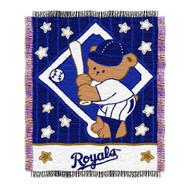 "Kansas City Royals 36""x48"" Woven Baby Throw Blanket"