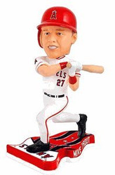 Los Angeles Angels Mike Trout Forever Collectibles Pennant Base Bobble Head