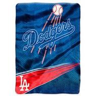 "Los Angeles Dodgers 60""x80"" Royal Plush Raschel Throw Blanket - Speed Style"