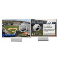 Los Angeles Dodgers Dodger Stadium Silver Plate Coin Card