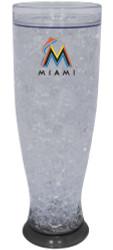Miami Marlins Crystal Pilsner Glass