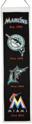 "Miami Marlins 8""x32"" Heritage Banner"