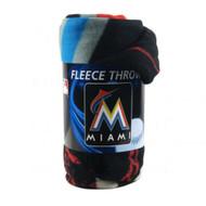 Miami Marlins 50x60 Fleece Blanket - Wicked Design