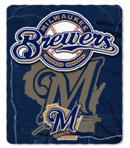 Milwaukee Brewers 50x60 Fleece Blanket - Wicked Design