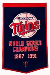 """Minnesota Twins 24""""x36"""" Wool Dynasty Banner"""