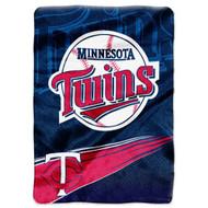 "Minnesota Twins 60""x80"" Royal Plush Raschel Throw Blanket - Speed Design"