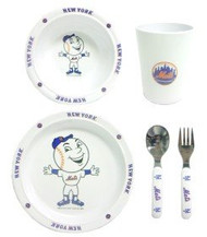 New York Mets 5 Piece Children's Dinner Set