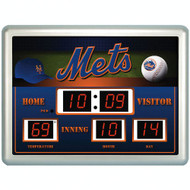 "New York Mets Clock - 14""x19"" Scoreboard"