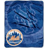 "New York Mets 50""x60"" Retro Style Royal Plush Raschel Throw Blanket"