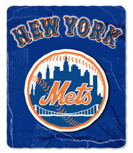 New York Mets 50x60 Fleece Blanket - Wicked Design