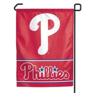 "Philadelphia Phillies 11""x15"" Garden Flag - Red with Logo"