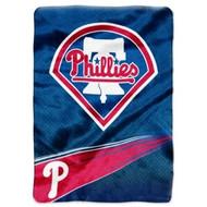 "Philadelphia Phillies 60""x80"" Royal Plush Raschel Throw Blanket - Speed Design"