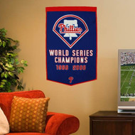 "Philadelphia Phillies 24""x36"" Wool Dynasty Banner"