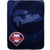 """Philadelphia Phillies 50""""x60"""" Retro Style Royal Plush Raschel Throw Blanket"""