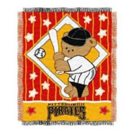 "Pittsburgh Pirates 36""x48"" Woven Baby Throw Blanket"