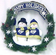 "San Diego Padres 20"" Team Snowman Wreath"