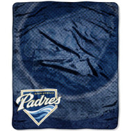 "San Diego Padres 50""x60"" Retro Style Royal Plush Raschel Throw Blanket"