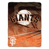 "San Francisco Giants 60""x80"" Royal Plush Raschel Throw Blanket - Speed Design"