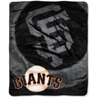 """San Francisco Giants 50""""x60"""" Retro Style Royal Plush Raschel Throw Blanket"""