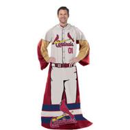 """St. Louis Cardinals 48""""x71"""" Comfy Throw - Player Design"""