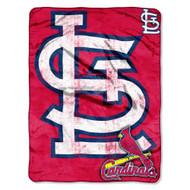 "St. Louis Cardinals 46"" x 60"" Micro Raschel Throw Blanket - Triple Play Design"