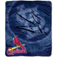 "St. Louis Cardinals 50""x60"" Retro Style Royal Plush Raschel Throw Blanket"