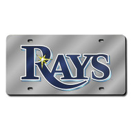 Tampa Bay Devil Rays Laser Cut Silver License Plate
