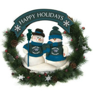 "Tampa Bay Devil Rays 20"" Team Snowman Wreath"