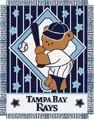 "Tampa Bay Devil Rays 36""x48"" Woven Baby Throw Blanket"