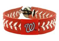 Washington Nationals Baseball Bracelet - Team Color Style