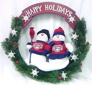 "Washington Nationals 20"" Team Snowman Wreath"