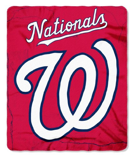 Washington Nationals 50x60 Fleece Blanket - Wicked Design